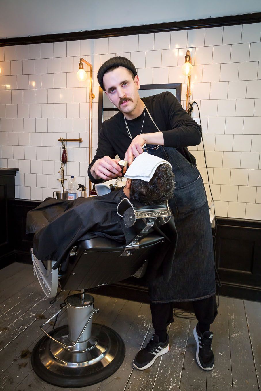Portrait of a barber in London Bloomsbury