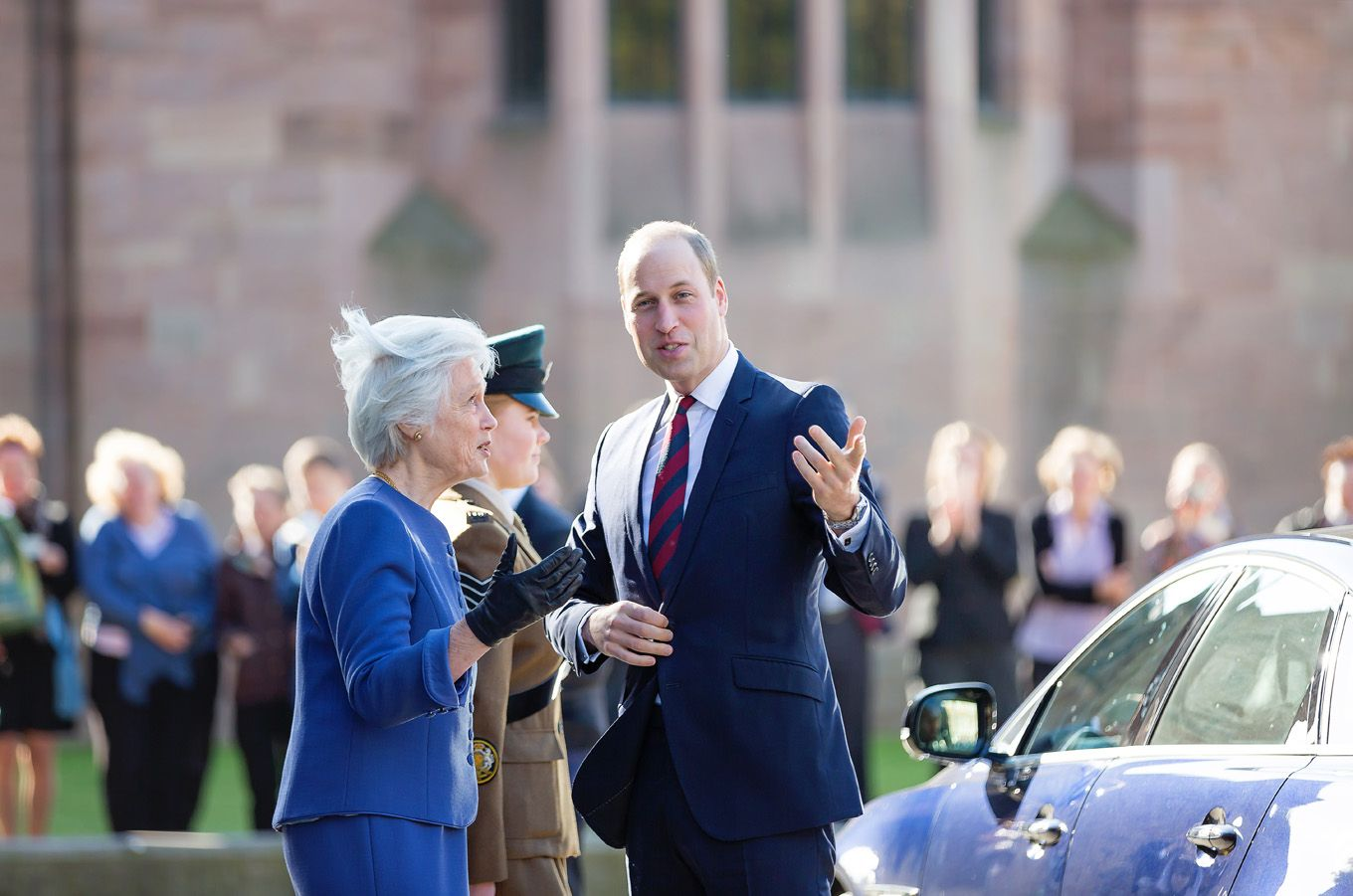 Prince William visiting Hereford